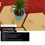 'Love Cartón' apuesta por el cartón como material de futuro para un diseño más sostenible