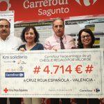 Fundación Solidaridad Carrefour ha donado un total de 4.174 euros a Cruz Roja Valencia, para la adquisición de alimentos infantiles