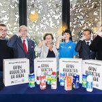 """La Obra Social """"la Caixa"""" y la FESBAL impulsan su campaña de recogida de leche para niños en riesgo de exclusión"""