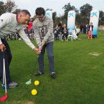 Sergio García imparte una clase magistral de golf adaptado para personas con diversidad funcional