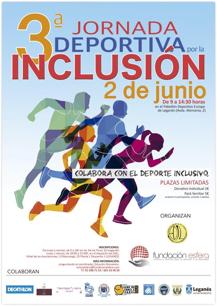 La 3ª Jornada Deportiva por la Inclusión reunirá a participantes con y sin discapacidad
