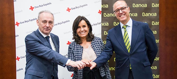 Bankia apoya con 450.000 euros programas sociales de Cruz Roja que promueven la empleabilidad