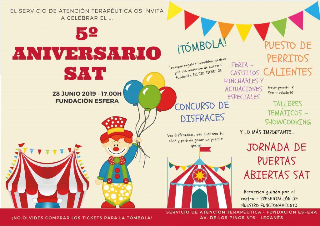 El Servicio de Atención Terapéutica organiza una gran fiesta para celebrar su 5º Aniversario