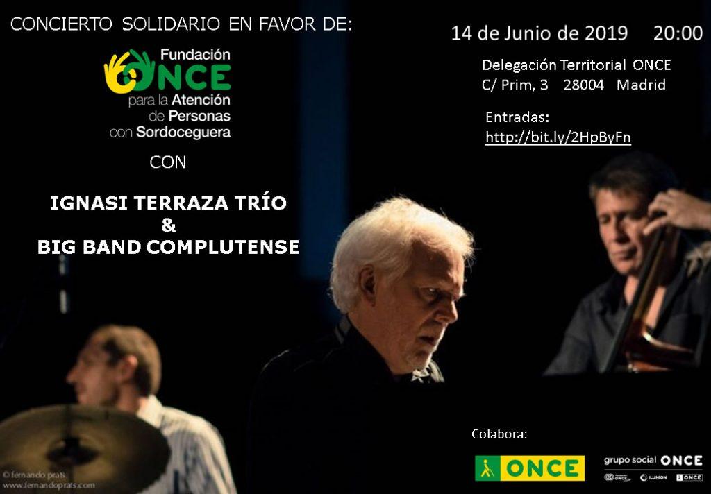 El trío del pianista Ignasi Terraza y la Big Band de la UCM unen su música por una causa solidaria