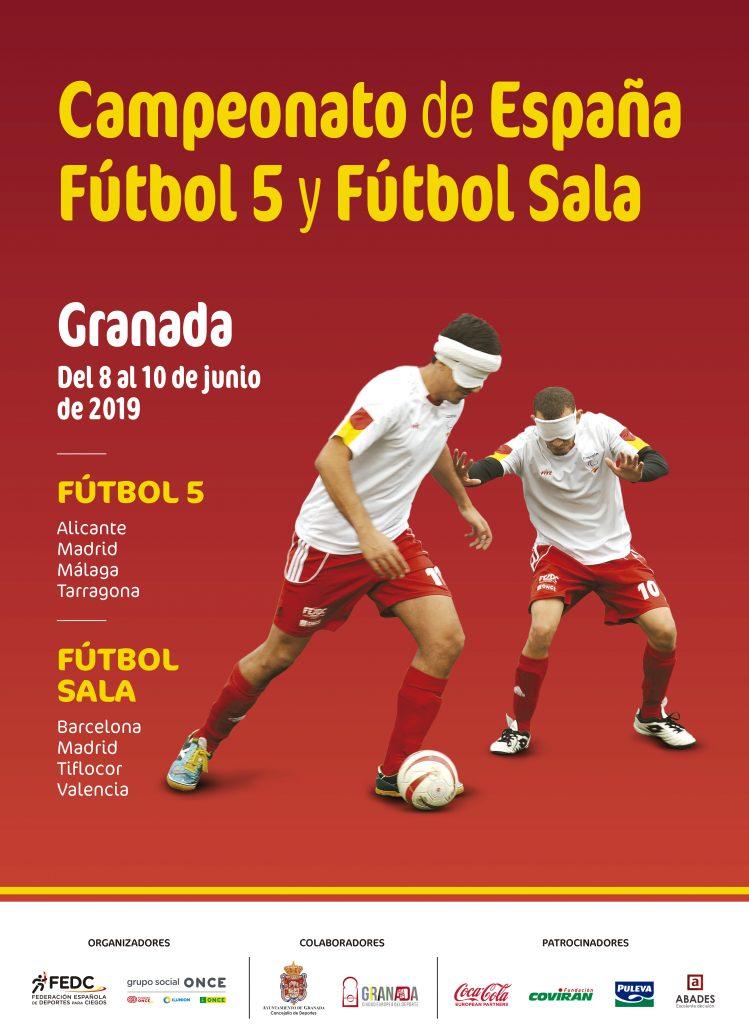 Los mejores futbolistas ciegos y con discapacidad visual grave se citan en Granada