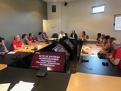 140 trabajadores de 15 empresas ven reconocida oficialmente su experiencia laboral a través de la iniciativa de CEOE Aragón