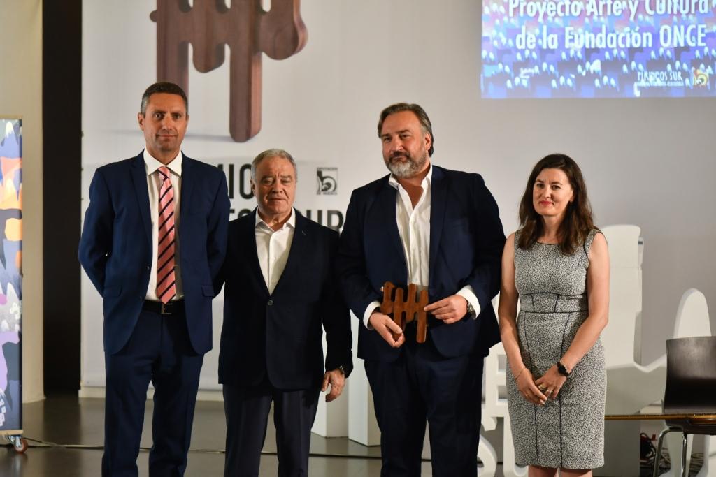 Fundación ONCE recoge el premio Pirineos Sur por el proyecto Arte y Cultura