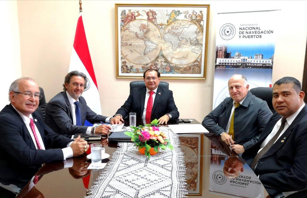 La Fundación Valenciaport se reúne en Paraguay con el Viceministro de Transportes, el Presidente de la Autoridad Nacional de Navegación y Puertos y el Director General de la Marina Mercante