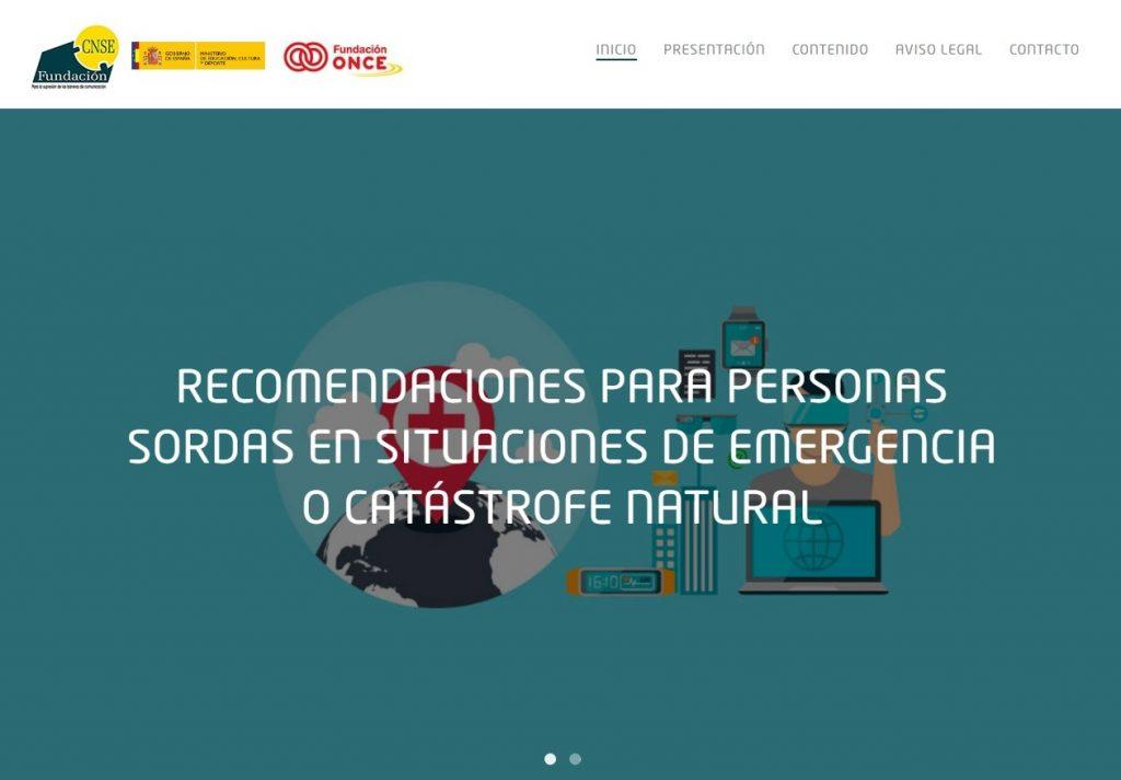 Una web en lengua de signos ofrece recomendaciones para personas sordas en situaciones de emergencia o catástrofe natural