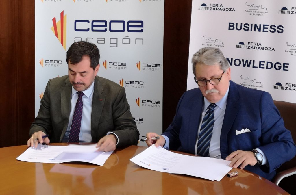 Feria de Zaragoza y CEOE Aragón refuerzan su colaboración para potenciar la internacionalización y cooperación empresarial