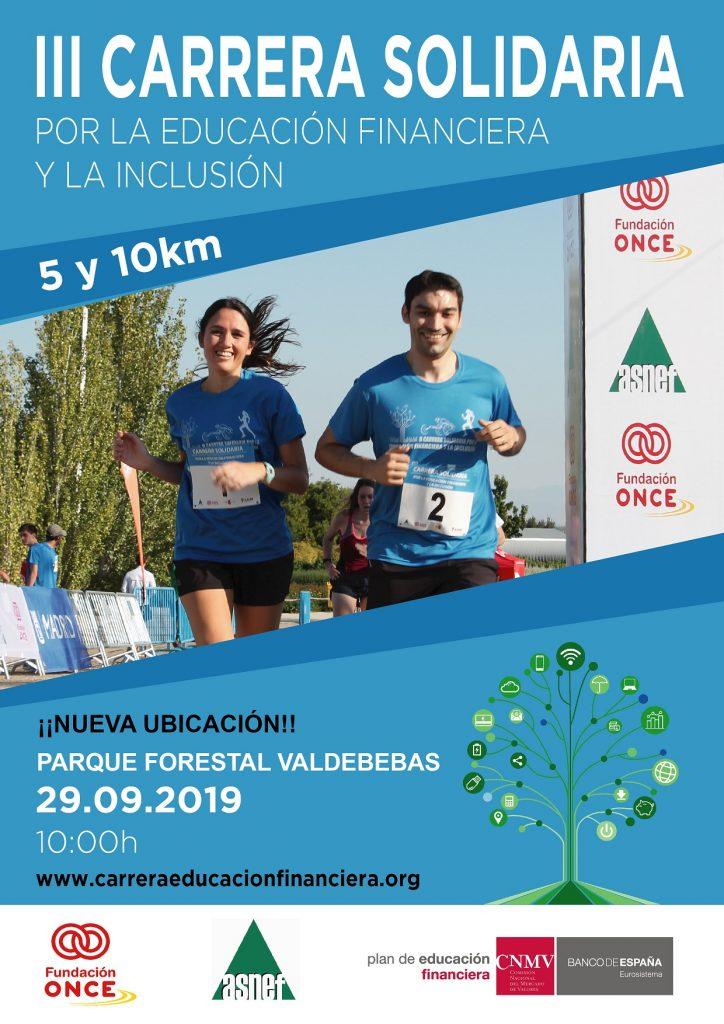 El parque forestal de Valdebebas acogió el domingo la III Carrera solidaria por la educación financiera inclusiva de las personas con discapacidad