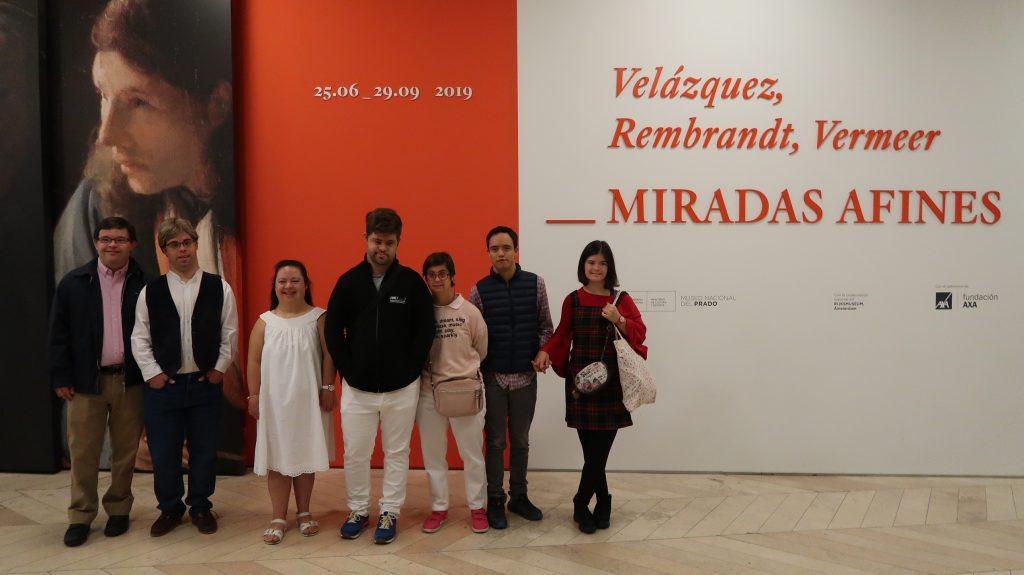 Los artistas de Down Madrid rinden homenaje al Museo del Prado en su bicentenario en la quinta convocatoria de premios de pintura