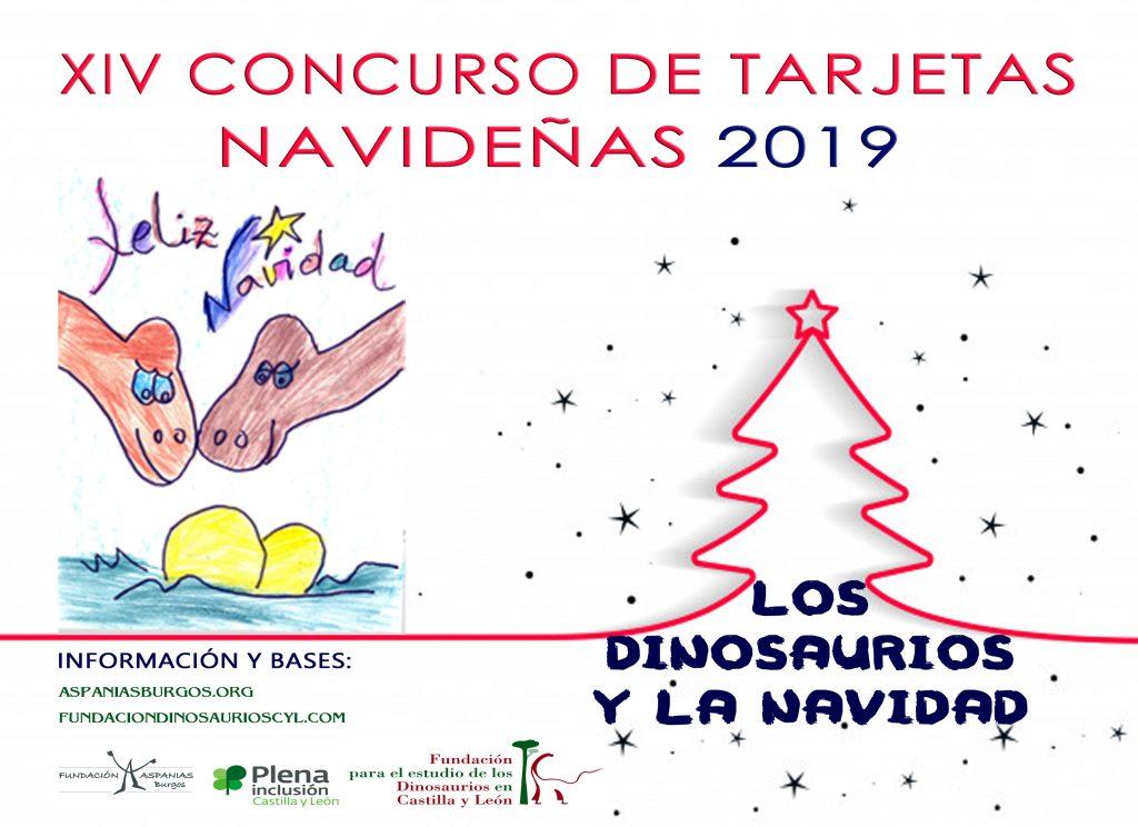 """Las Fundaciones Dinosaurios de Castilla y León y Aspanias Burgos convocan el XIV del Concurso Nacional de Tarjetas Navideñas """"Los Dinosaurios y la Navidad"""""""