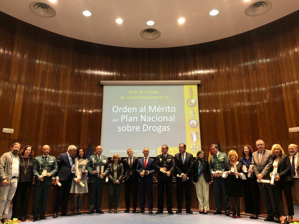 Entrega de las condecoraciones de la Orden al Mérito del Plan Nacional sobre Drogas.