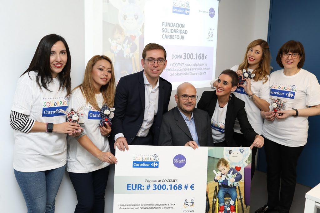 Fundación Solidaridad Carrefour dona 300.000 euros a favor de la infancia con discapacidad física y orgánica