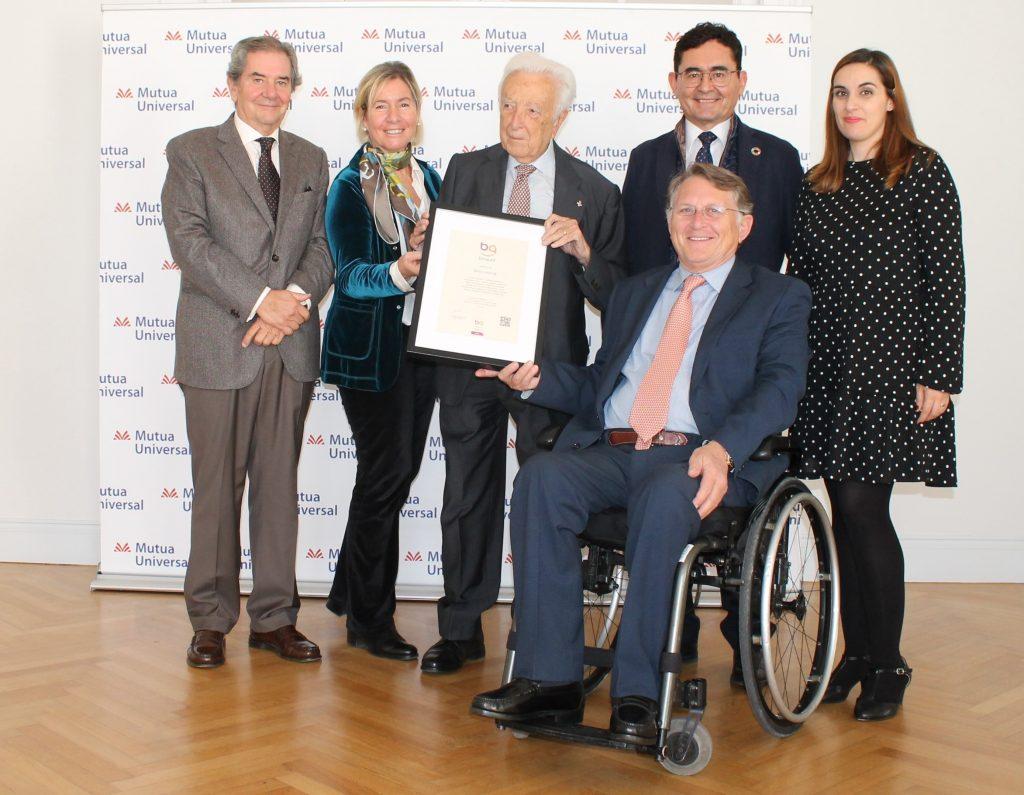 Mutua Universal recibe el Sello Bequal Plus, que certifica su política inclusiva con las personas con discapacidad