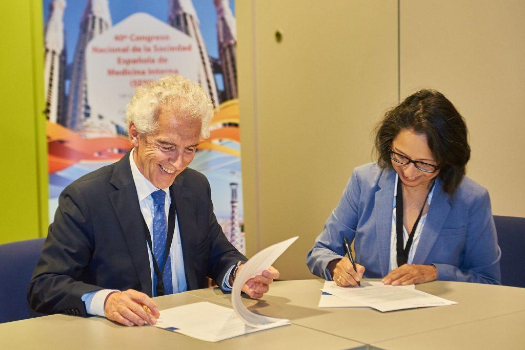 La Sociedad Española de Medicina Interna y el Colegio Americano de Médicos firman un acuerdo para implantar un programa formativo común