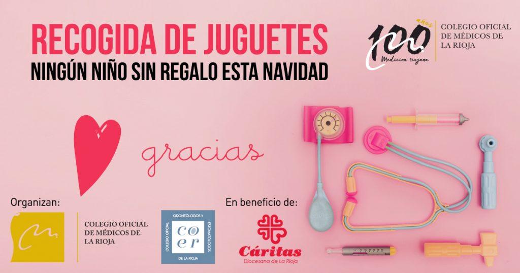 Recogida solidaria de juguetes con motivo del Centenario del Colegio Oficial de Médicos de La Rioja