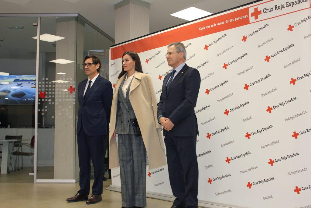 S.M. la Reina participa en una sesión de trabajo de las Jornadas de Violencia de Género de Cruz Roja