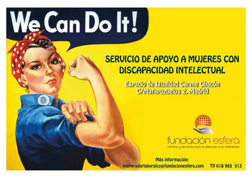 Esfera inicia el Servicio de apoyo a mujeres con discapacidad en el Espacio de igualdad Carme Chacón de Madrid