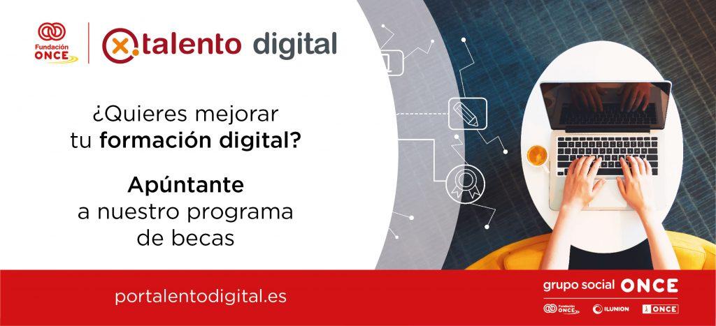 Fundación ONCE lanza el programa de becas 'Por Talento Digital'