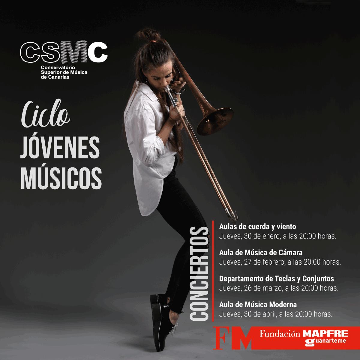 Los alumnos de cuerda y viento del CSMC inauguran el «Ciclo de jóvenes músicos » en la Fundación Mapfre Guanarteme