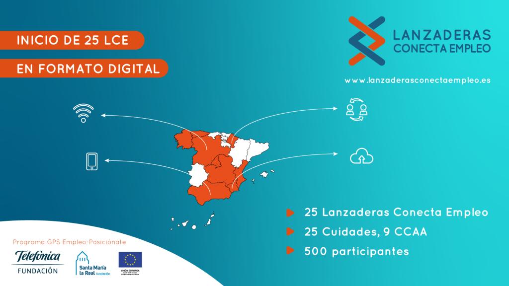 """500 personas preparan su salida al mercado laboral en 25 nuevas """"Lanzaderas Conecta Empleo"""", que inicianen formato digital por la crisis del COVID-19"""