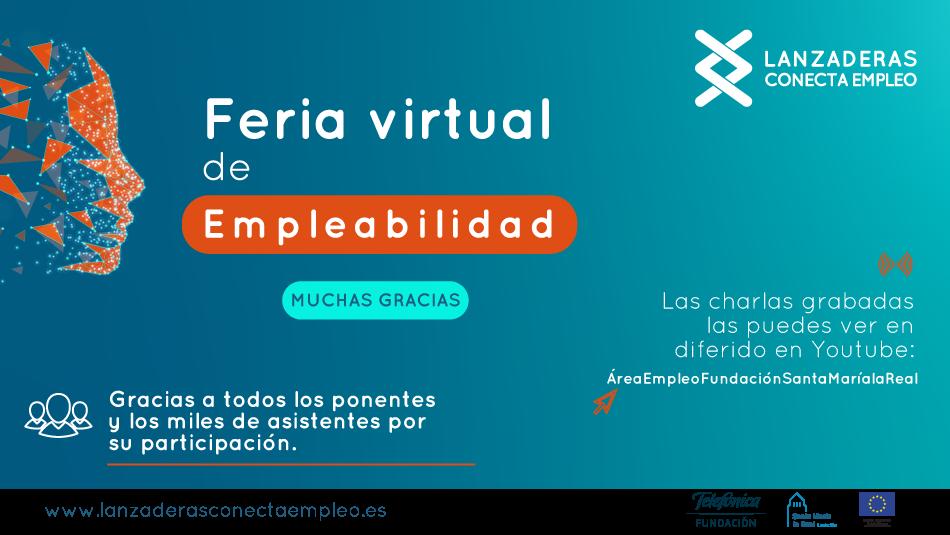"""La Feria Virtual de Empleabilidad """"Lanzaderas Conecta Empleo"""" ha llegado a casi 5.000 personas"""