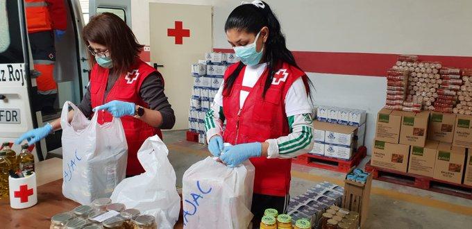 Cruz Roja distribuye 11,5 millones de kilos de alimentos