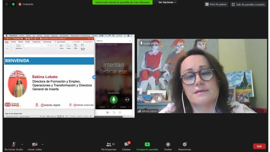 Fundación ONCE fomenta el talento digital de emprendedores con discapacidad