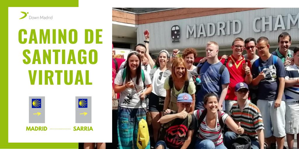 Los peregrinos de Down Madrid emprenden por primera vez el Camino de Santiago de forma virtual para evitar riesgos de contagio por COVID-19