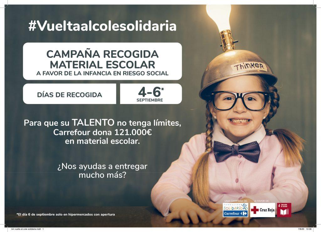 Fundación Solidaridad Carrefour y Cruz Roja promueven la 'Vuelta al Cole Solidaria' a favor de la infancia en riesgo social