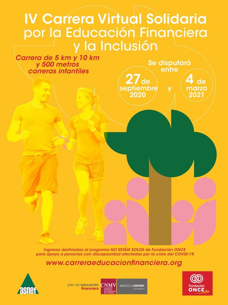 ASNEF y Fundación ONCE organizan la IV Carrera virtual solidaria por la educación financiera y la inclusión