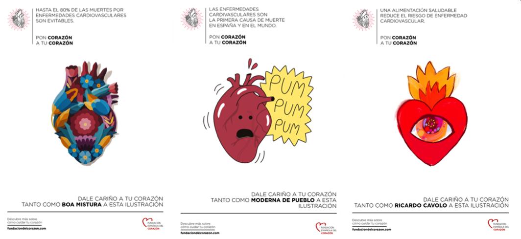 20 reconocidos artistas ceden su corazón para concienciar sobre la salud cardiovascular