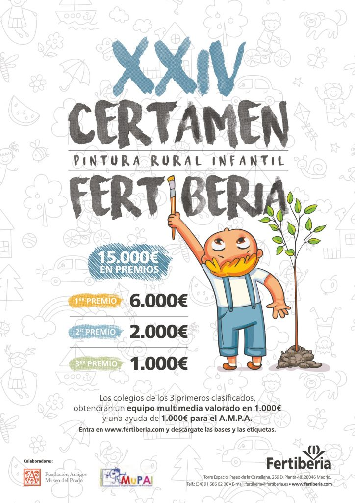 Convocada la 24ª edición del Certamen de Pintura Rural Infantil de Fertiberia