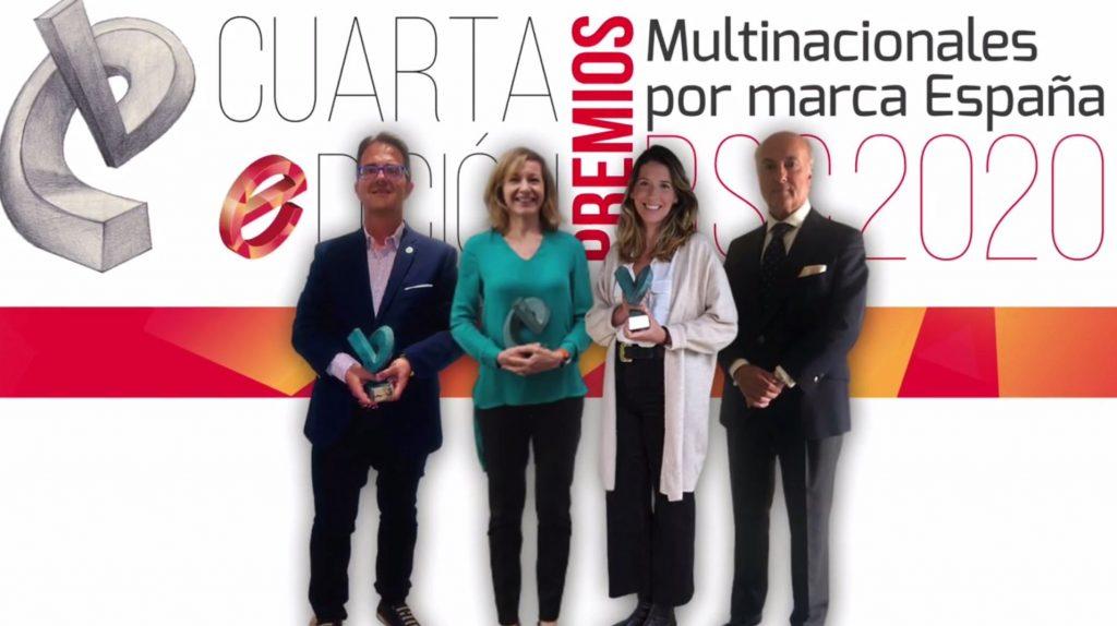 Entregados los Premios RSC 2020 de Multinacionales por marca España