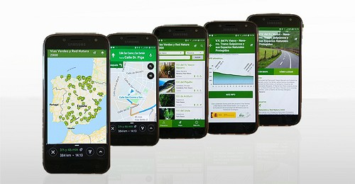 Nueva versión de la App de Vías Verdes