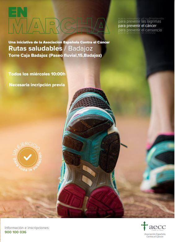 La AECC en Badajoz presenta el proyecto Rutas saludables