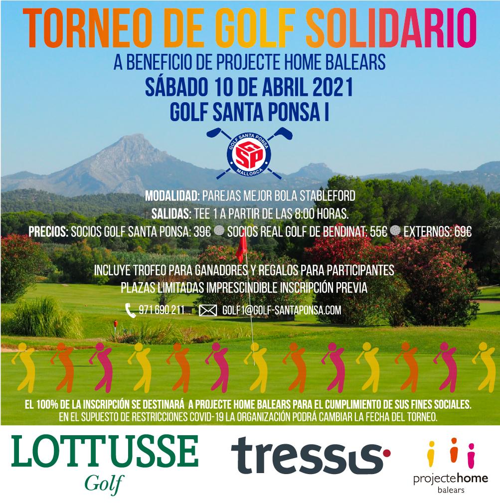 Torneo de golf Solidario a beneficio de Projecte Home Balears