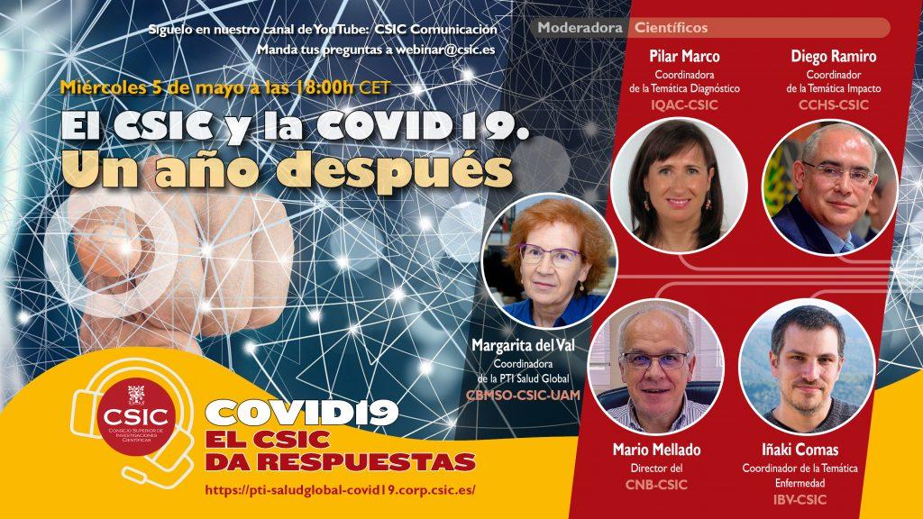 Cinco expertos explican los resultados de la Plataforma Salud Global del CSIC tras un año de investigación sobre el coronavirus SARS-CoV-2