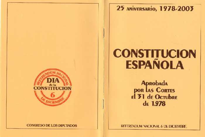 Se aprueba el proyecto de reforma del artículo 49 de la Constitución española
