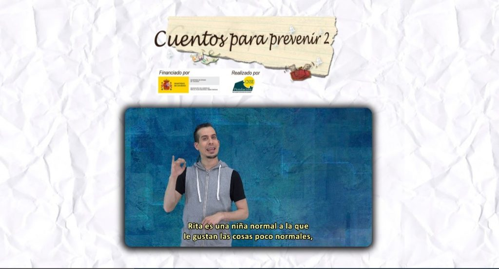 La Fundación CNSE apoya la prevención de drogas a través de cuentos infantiles traducidos a la lengua de signos española