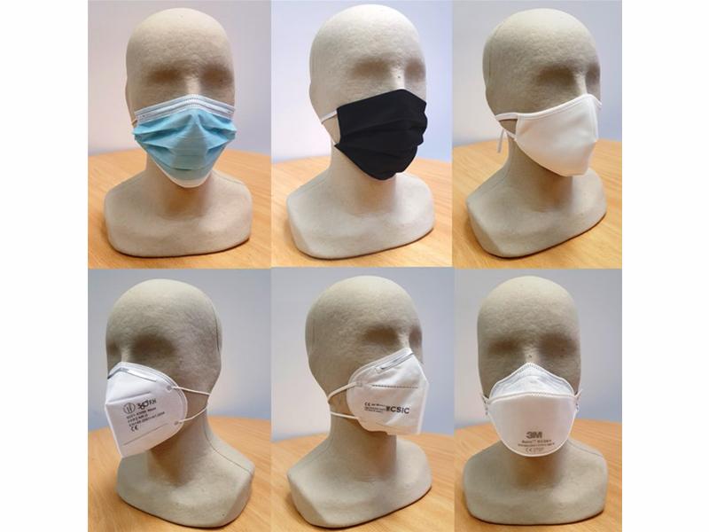 Un estudio avala la seguridad de las mascarillas de protección frente a la covid-19