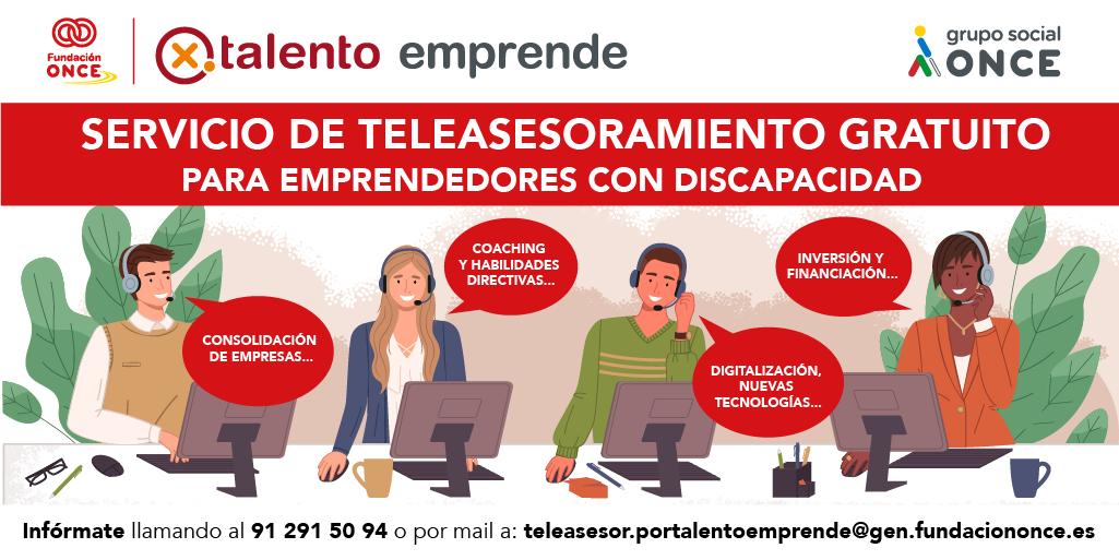 Nuevo servicio de teleasesoramiento gratuito para emprendedores con discapacidad